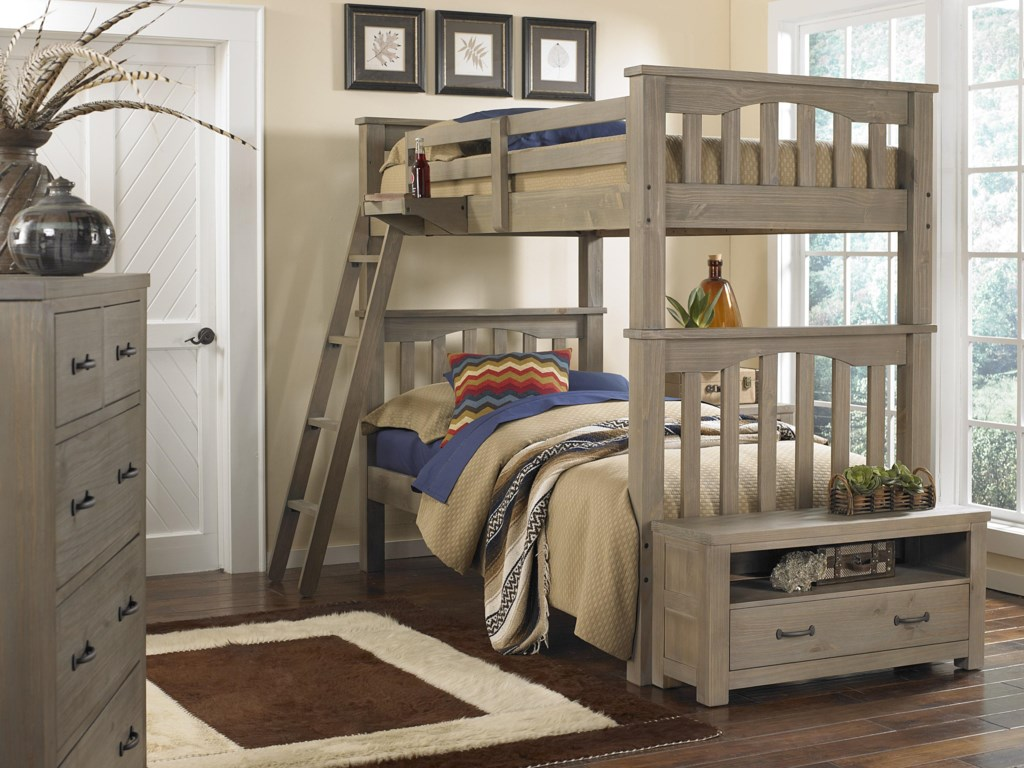 NE Kids HighlandsTwin Over Twin Harper Bunk Bed