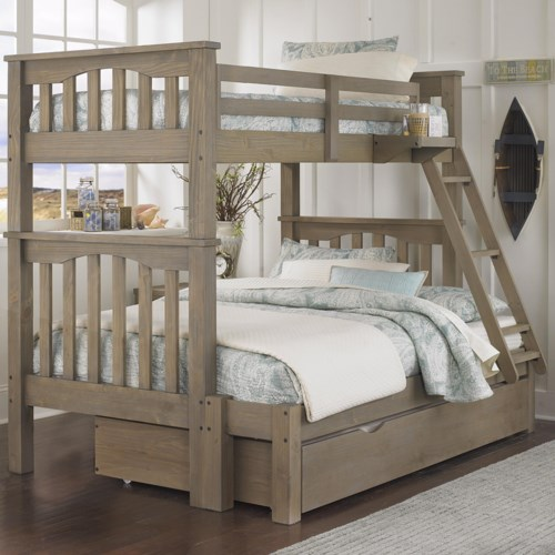 NE Kids Highlands Mission Style Twin Over Full Harper Bunk Bed