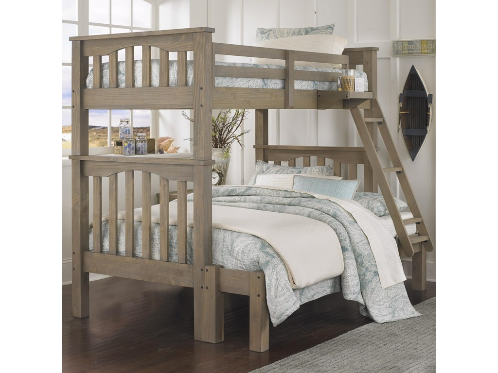 NE Kids HighlandsHarper Twin Over Full Bunk Bed