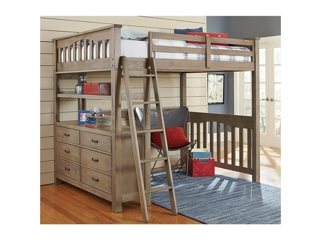 NE Kids HighlandsTwin Loft Bed