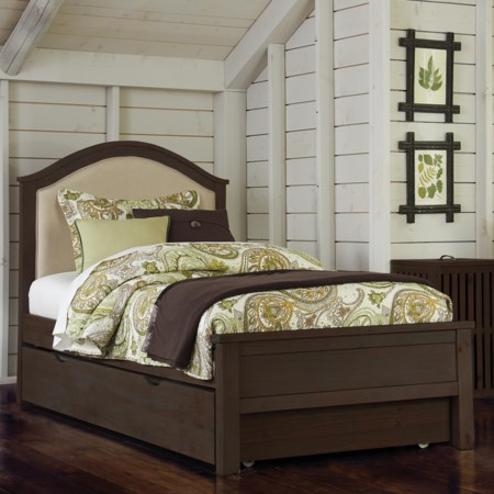 Twin Bailey Upholstered Bed with Trundle