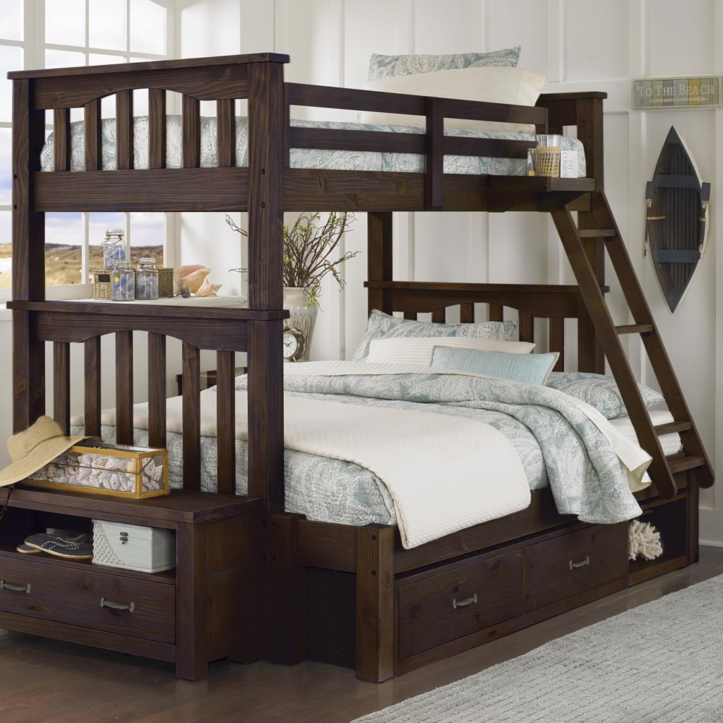 Ne Kids Highlands Mission Style Twin Over Full Harper Bunk Bed With