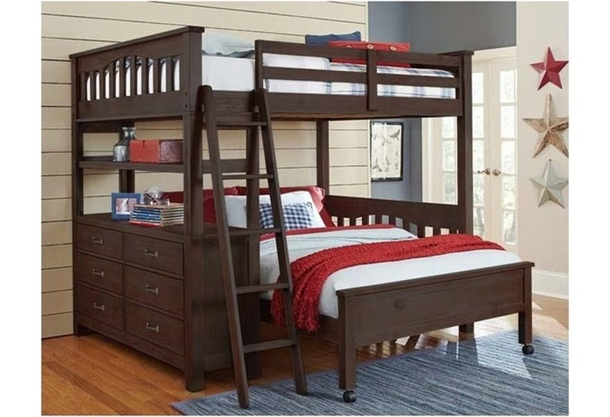 Mission Style Twin Bed With Lower