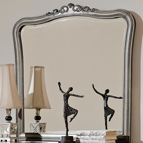 NE Kids Kensington Dresser Mirror with Scroll Carving