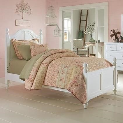 NE Kids Lake House Twin Bed with Arched Headboard