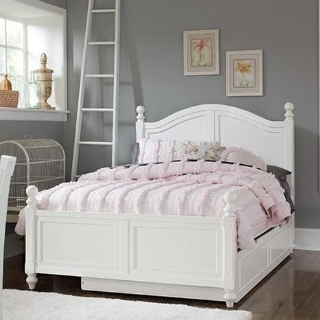 NE Kids Lake House Full Bed with Arched Headboard and Trundle