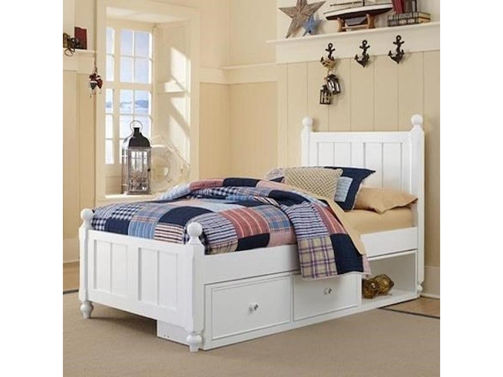 NE Kids Lake HouseTwin Bed and Storage Unit