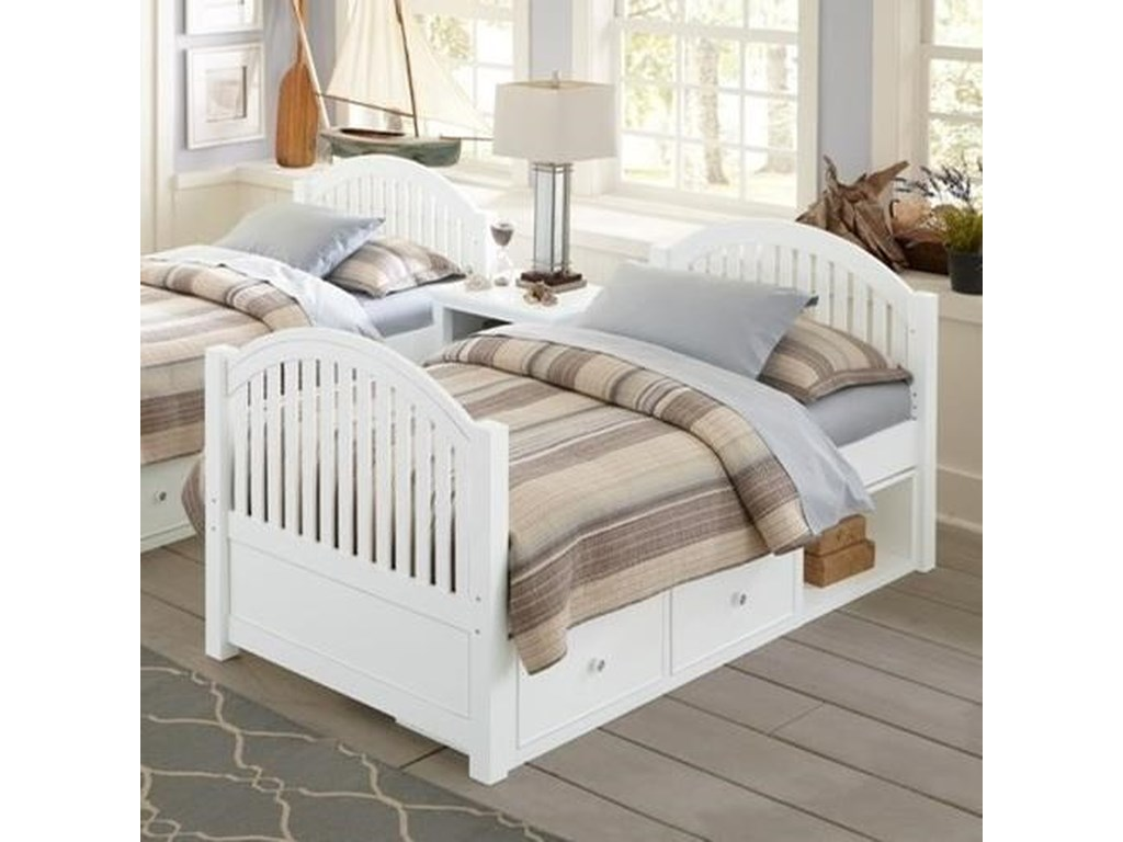 Ne Kids Lake House Twin Bed With Arched Headboard And Footboard And
