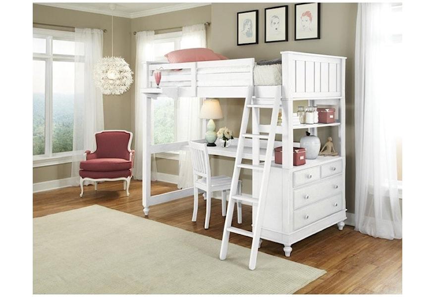 Ne Kids Lake House Full Loft Bed With
