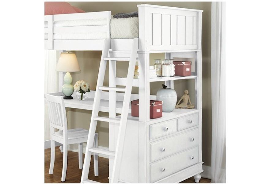 Ne Kids Lake House Full Loft Bed With Desk And Dresser Belfort Furniture Loft Beds
