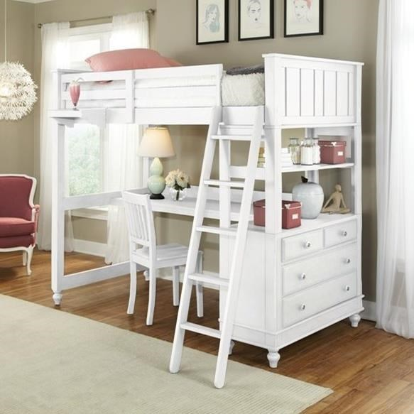 Lake House Full Loft Bed With Desk And Dresser By Ne Kids