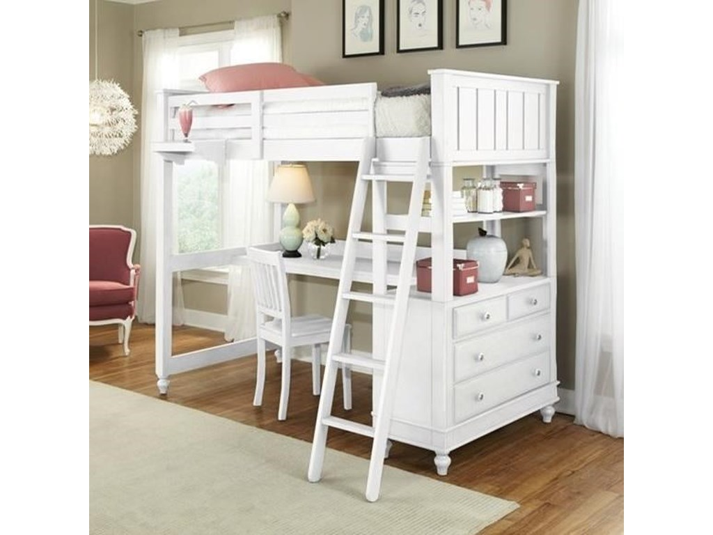 8a0011c9d09ec NE Kids Lake House 1045ND Full Loft Bed with Desk and Dresser