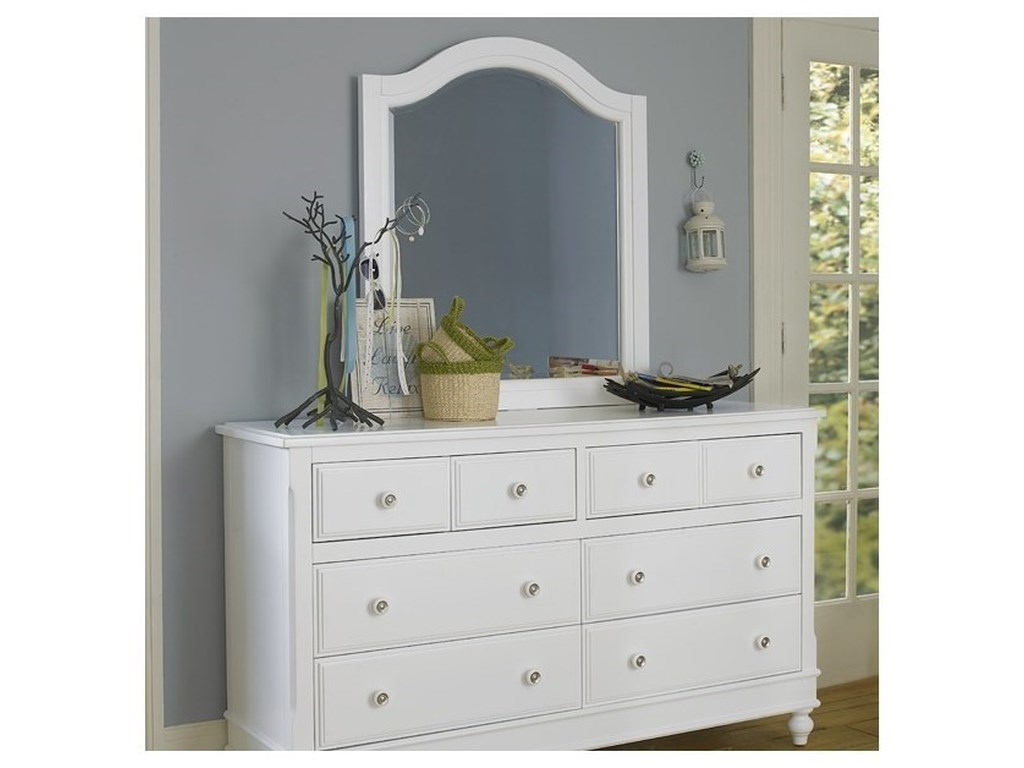 NE Kids Lake House8 Drawer Dresser + Arched Mirror