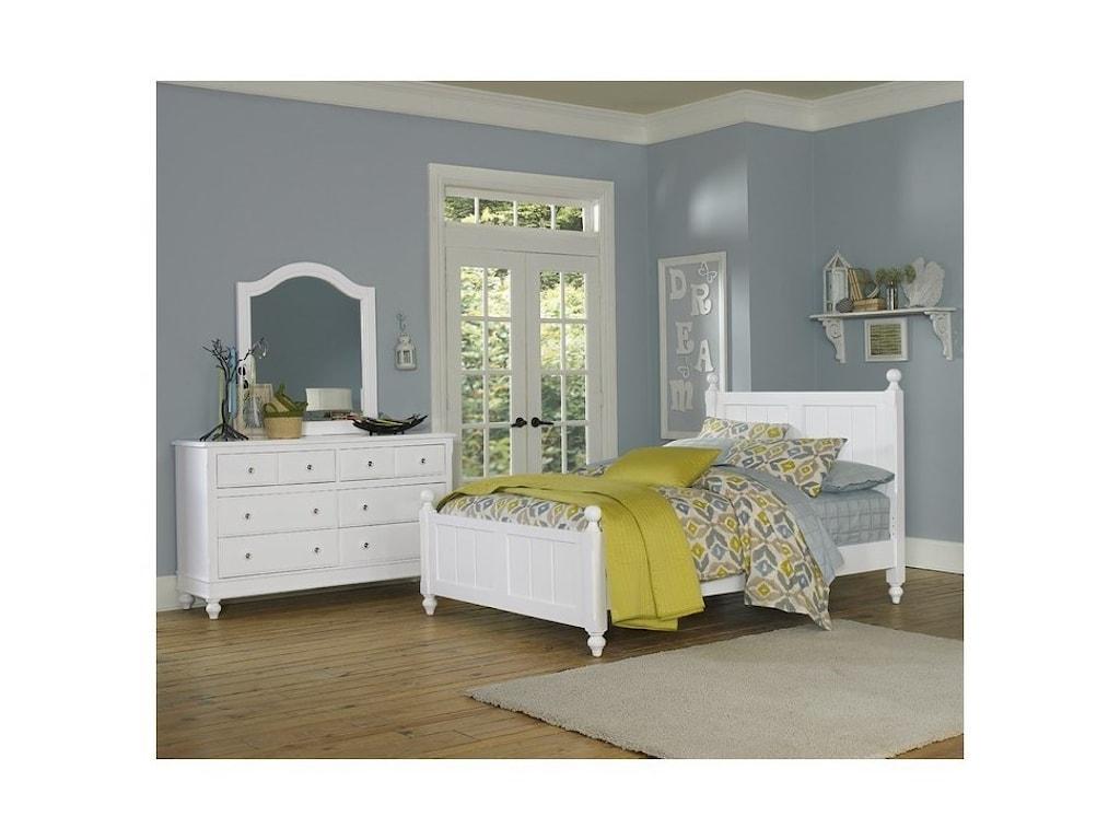 NE Kids Lake House8 Drawer Dresser + Arched Mirror