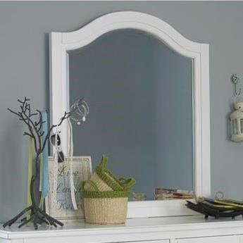NE Kids Lake House Beveled Edge Mirror with Arched Frame