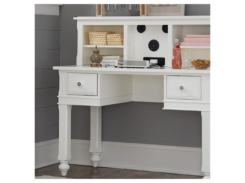 NE Kids Lake HouseWriting Desk + Entertainment Desk Hutch