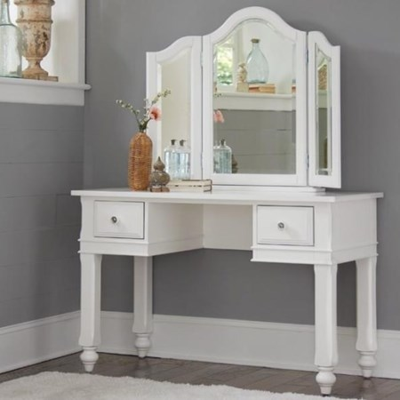 Writing Desk + Vanity Jewelry Mirror