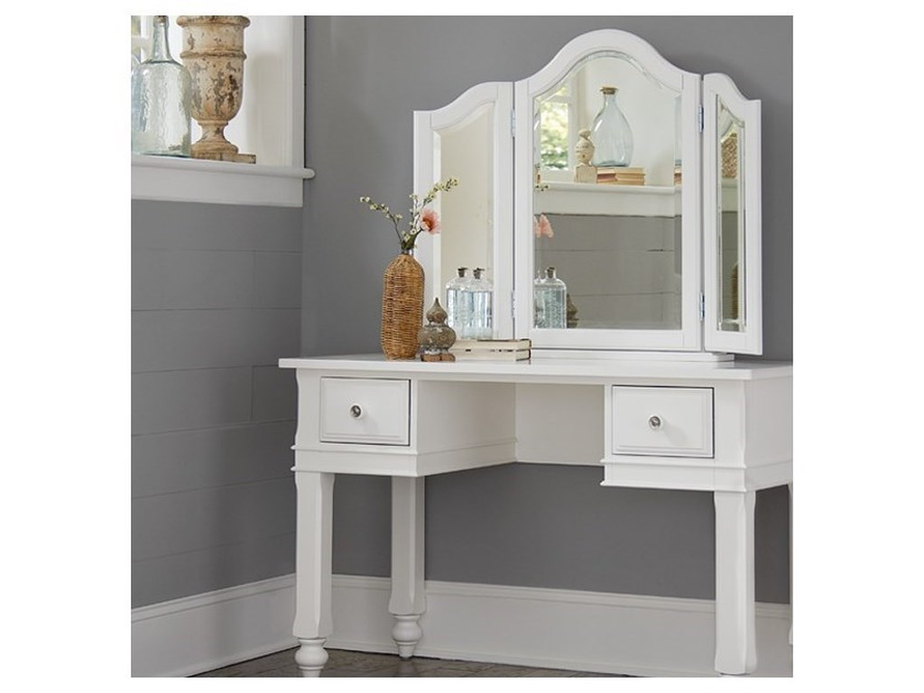 NE Kids Lake HouseWriting Desk + Vanity Jewelry Mirror