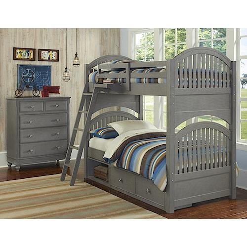 NE Kids Lake House Twin Storage Bunk Bed Group