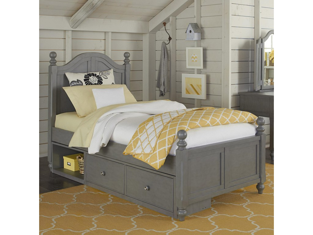 Ne Kids Lake House Twin Bed With Arched Headboard And Underneath