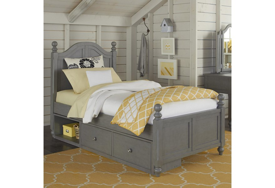 Ne Kids Lake House Twin Bed With Arched