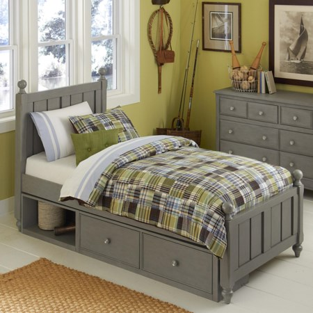Twin Bed and Storage Unit