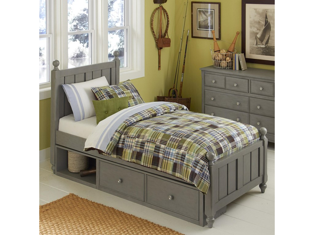 NE Kids Lake HouseTwin Bed and Storage Unit