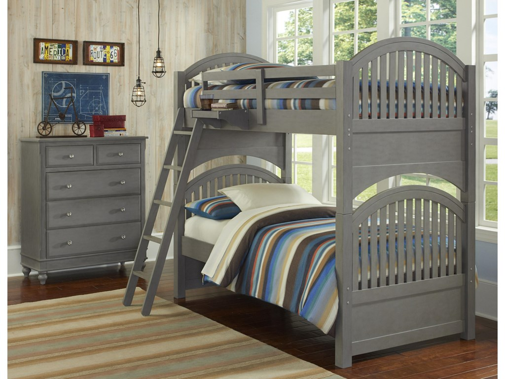 NE Kids Lake HouseAdrian Twin over Twin Bunk