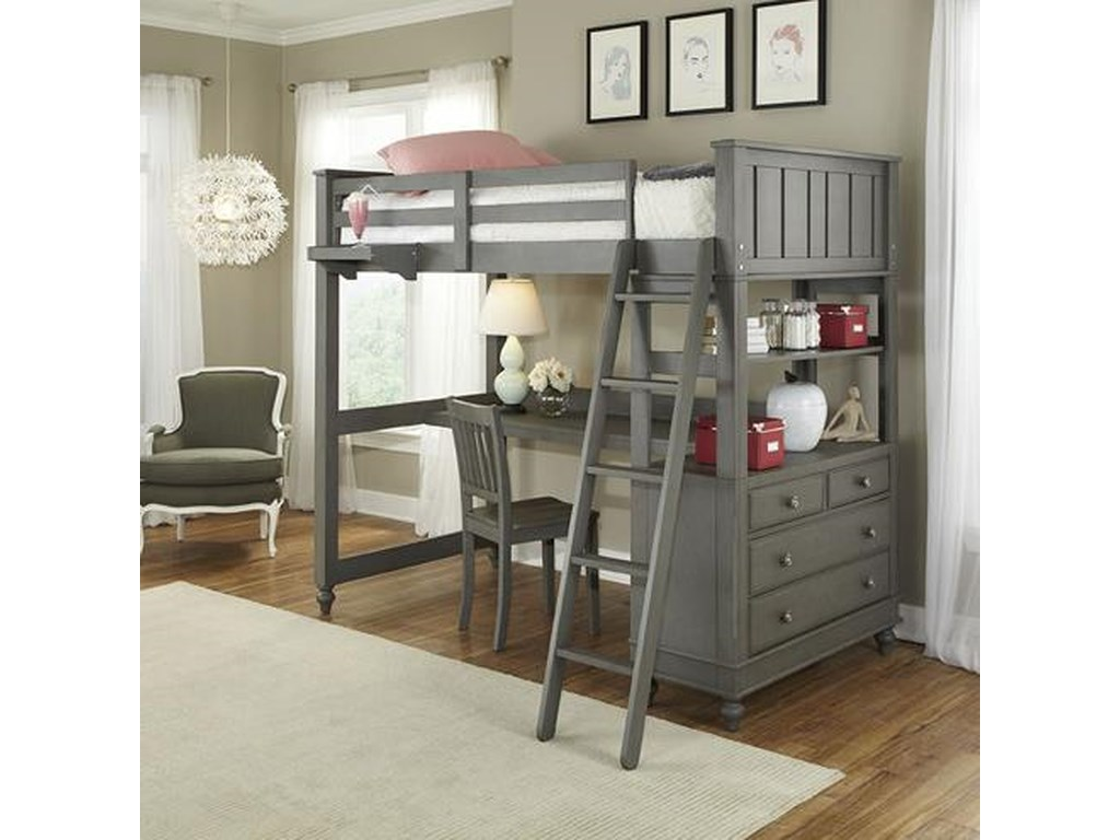 Twin Loft Bed.Lake House Twin Loft Bed With Desk And Chest By Ne Kids At Stoney Creek Furniture