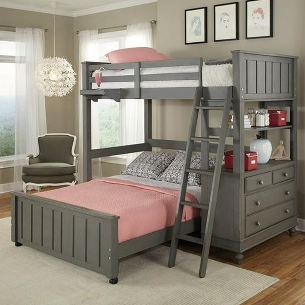 Ne Kids Lake House Lofted Bed With Full Lower Bed Stoney Creek