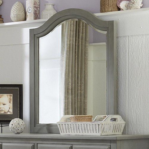 NE Kids Lake House Beveled Edge Mirror with Arched Frame