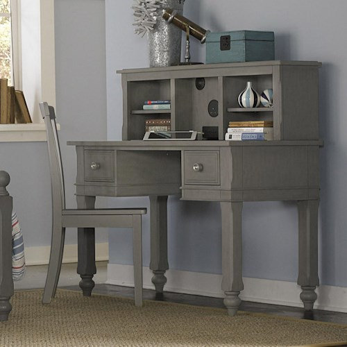 NE Kids Lake House Kids Desk and Hutch with Built in Speakers and Chair
