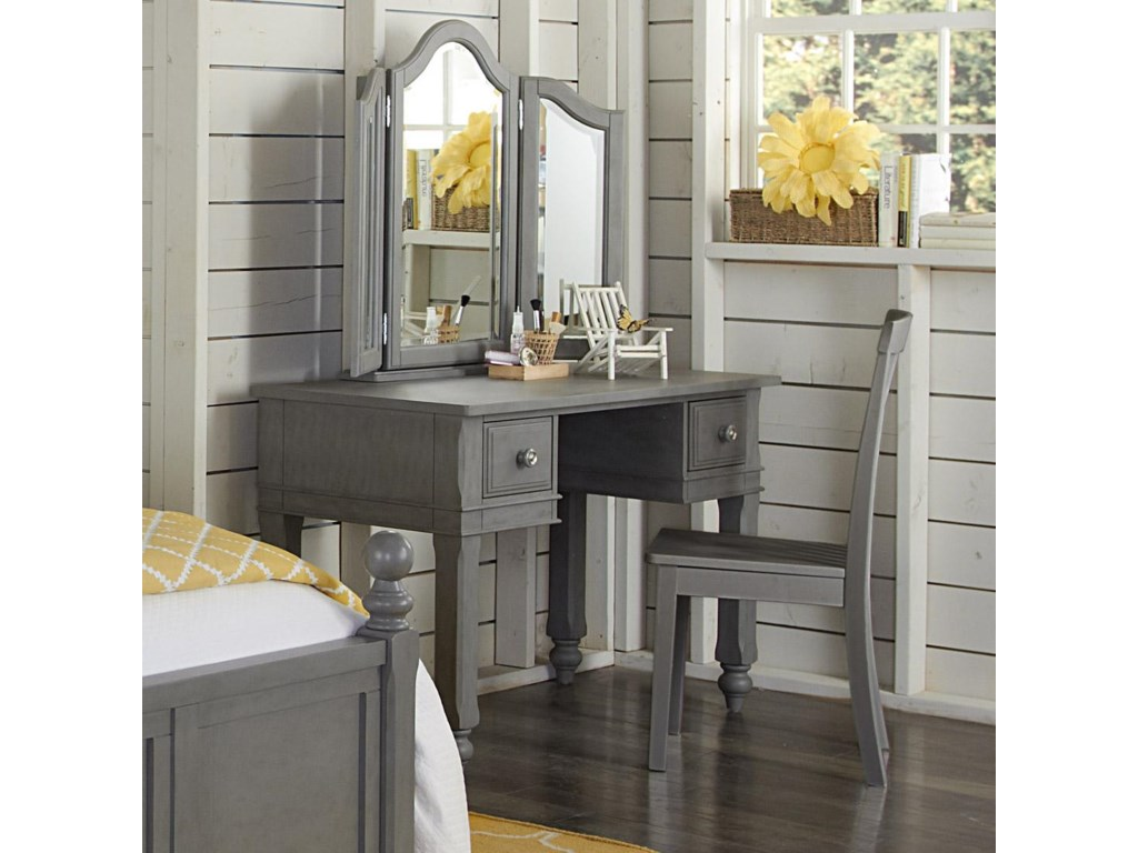 NE Kids Lake HouseWriting Desk and Mirror with Chair
