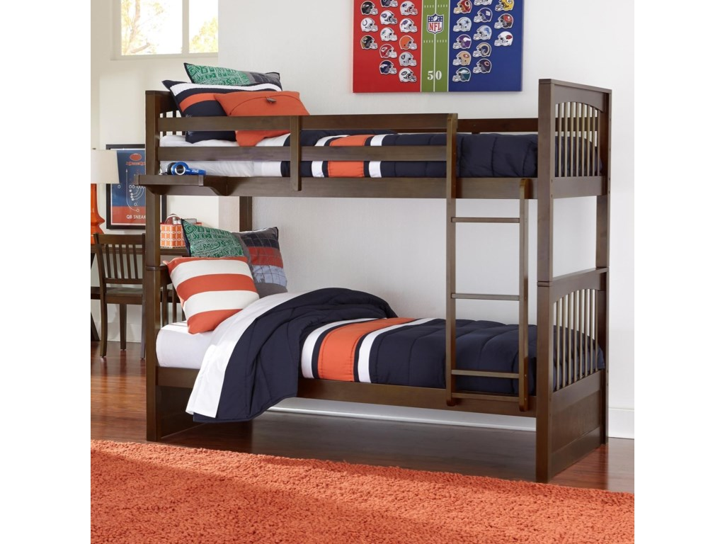 Ne Kids Pulse Mission Style Twin Over Twin Bunk Bed Wayside