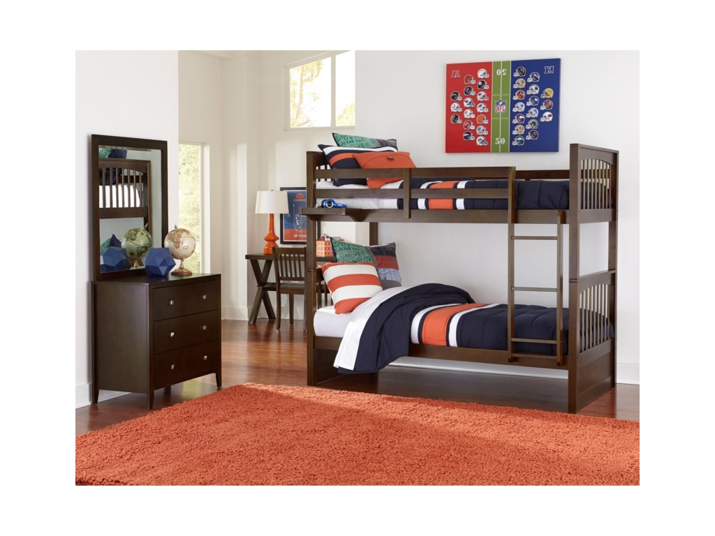 NE Kids PulseTwin Over Twin Bunk Bed
