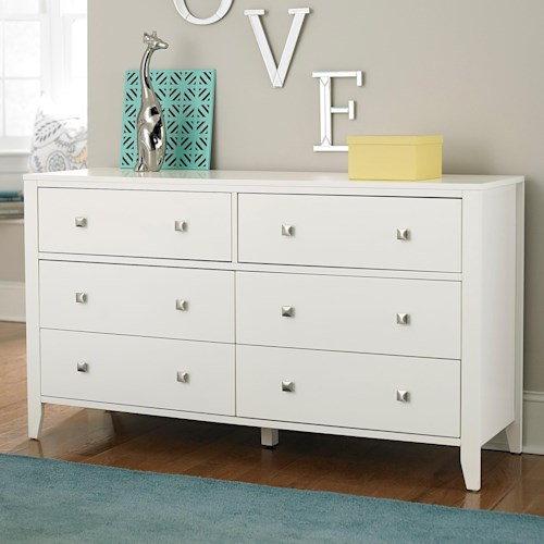 NE Kids Pulse Contemporary Six Drawer Dresser