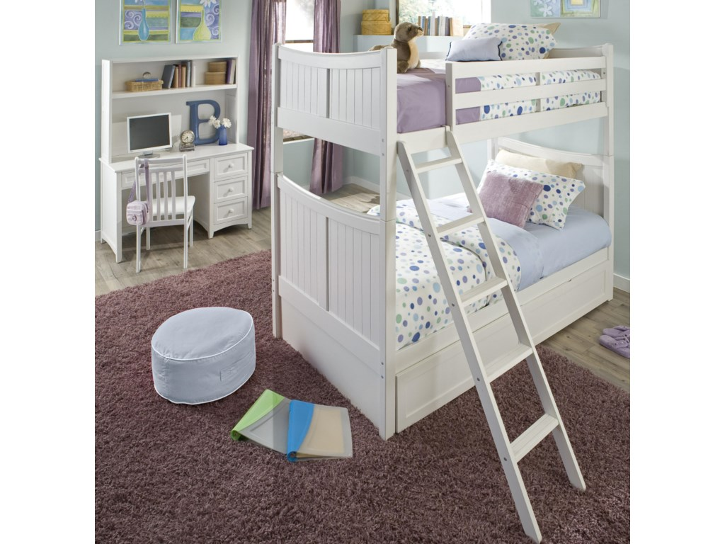 Shown in Room Setting with Bunk Bed, Desk and Hutch