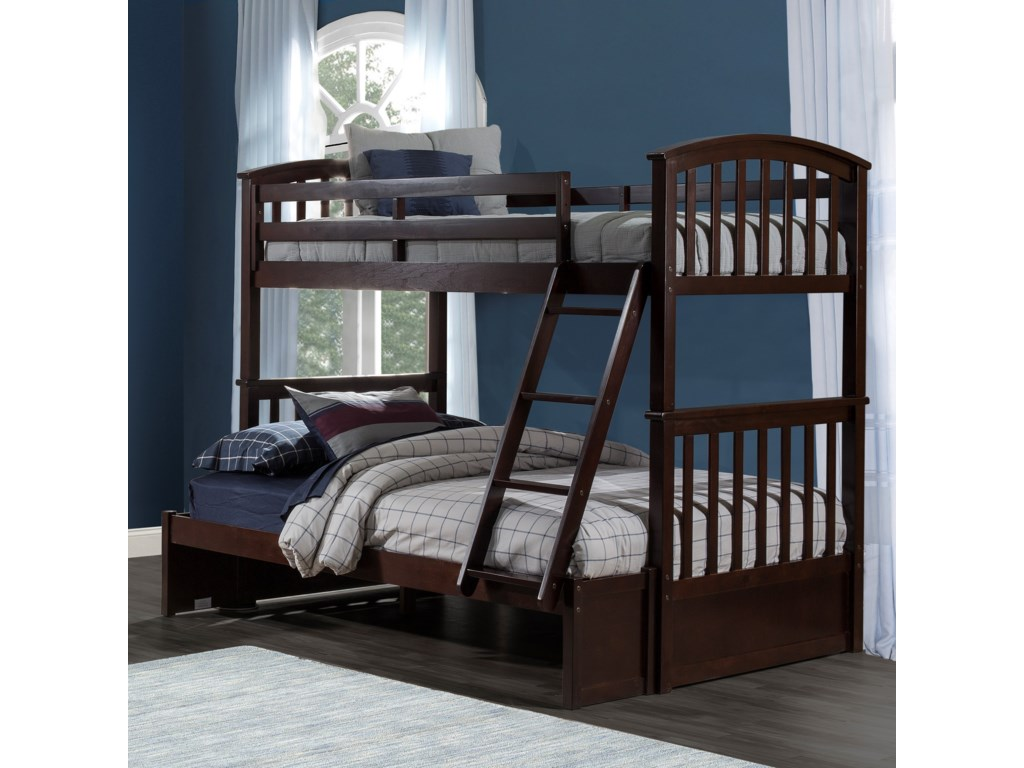 NE Kids Schoolhouse 4.0Twin Over Full Bunk Bed