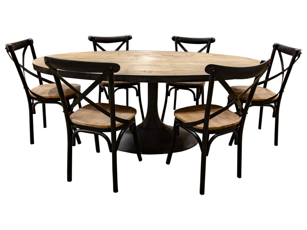 Nest Home Collections MirandaOval Dining Table with 6 Chairs