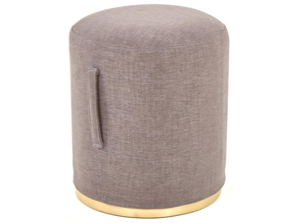 Nest Home Collections Accent FurnitureGrey Pouf Stool
