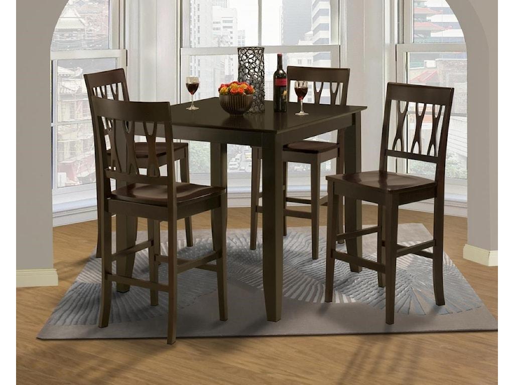 New Classic 04-19055pc Dining Set