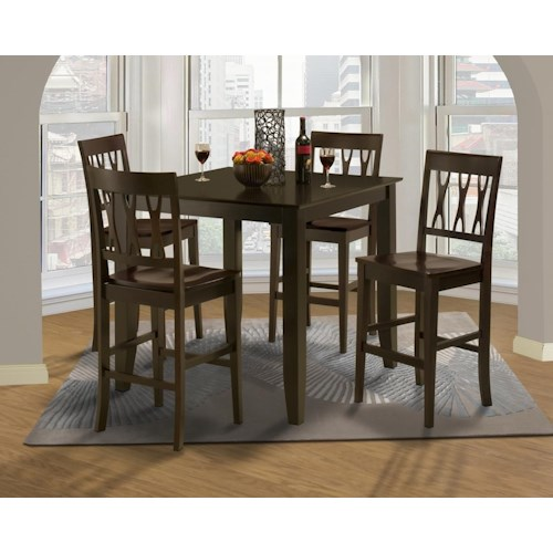 New Classic 04-1905 04-1905- 5pc Dining Set Style 19