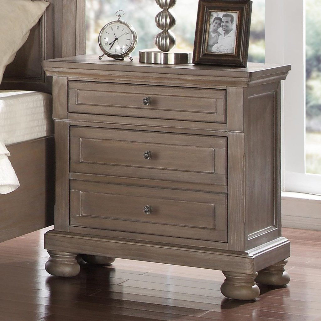 New Classic Allegra B2159 040 Nightstand with Outlet USB Port