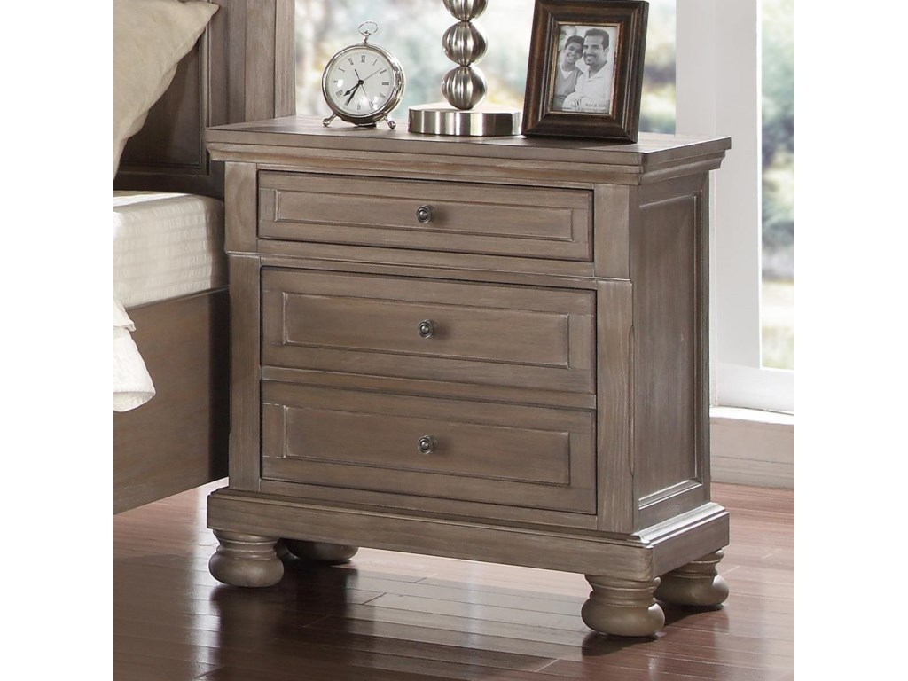 New Classic Allegra Nightstand With Outlet Usb Port Darvin