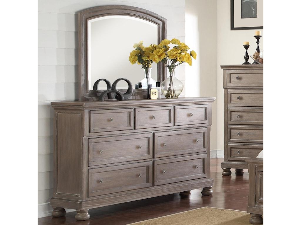 New Classic AllegraDresser & Mirror Set