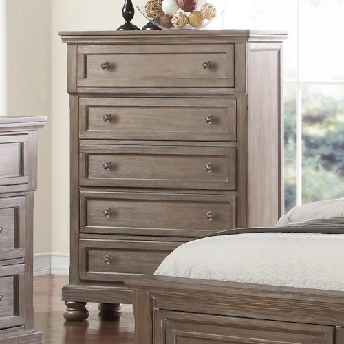 New Classic Allegra 5 Drawer Bedroom Chest