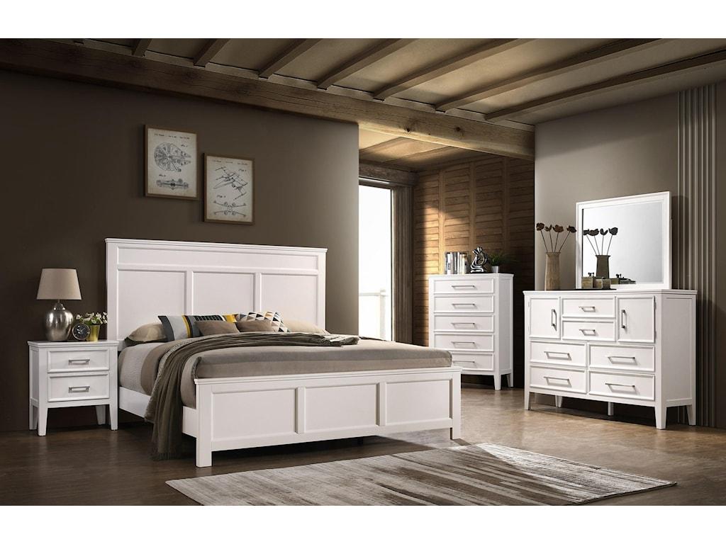 New Classic Andover6 Piece Queen Bedroom Group
