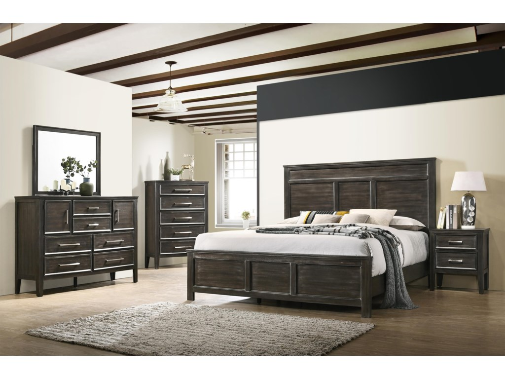 New Classic Andover6 Piece Full Bedroom Group