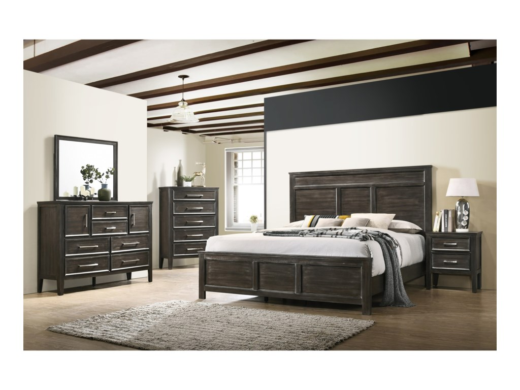 New Classic AndoverKing Panel Bed