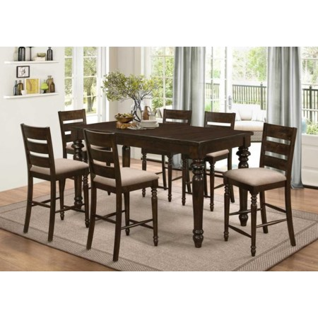 7 Piece Counter Table Set